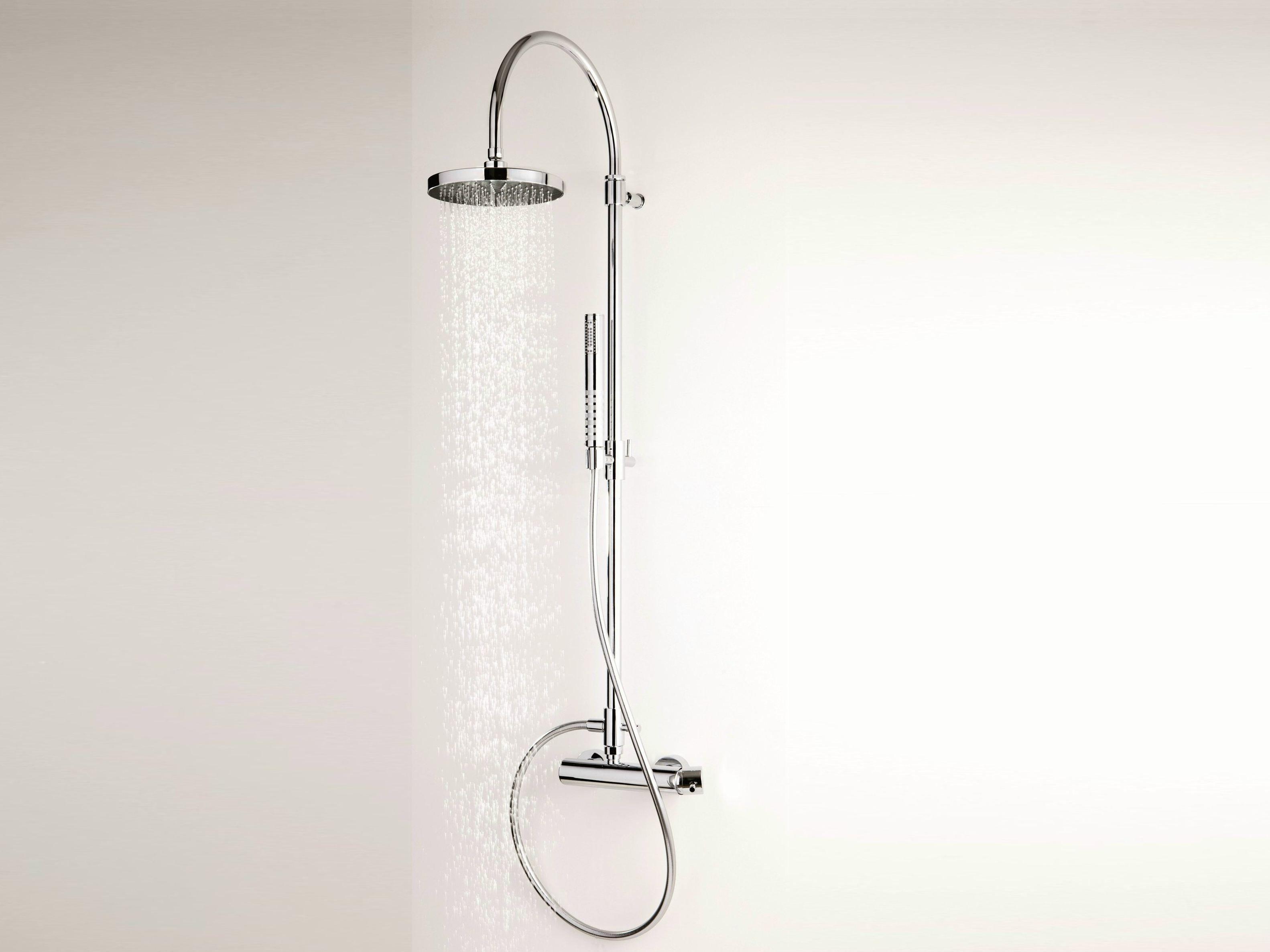 Colonna doccia a parete con doccetta con soffione for Gruppo doccia