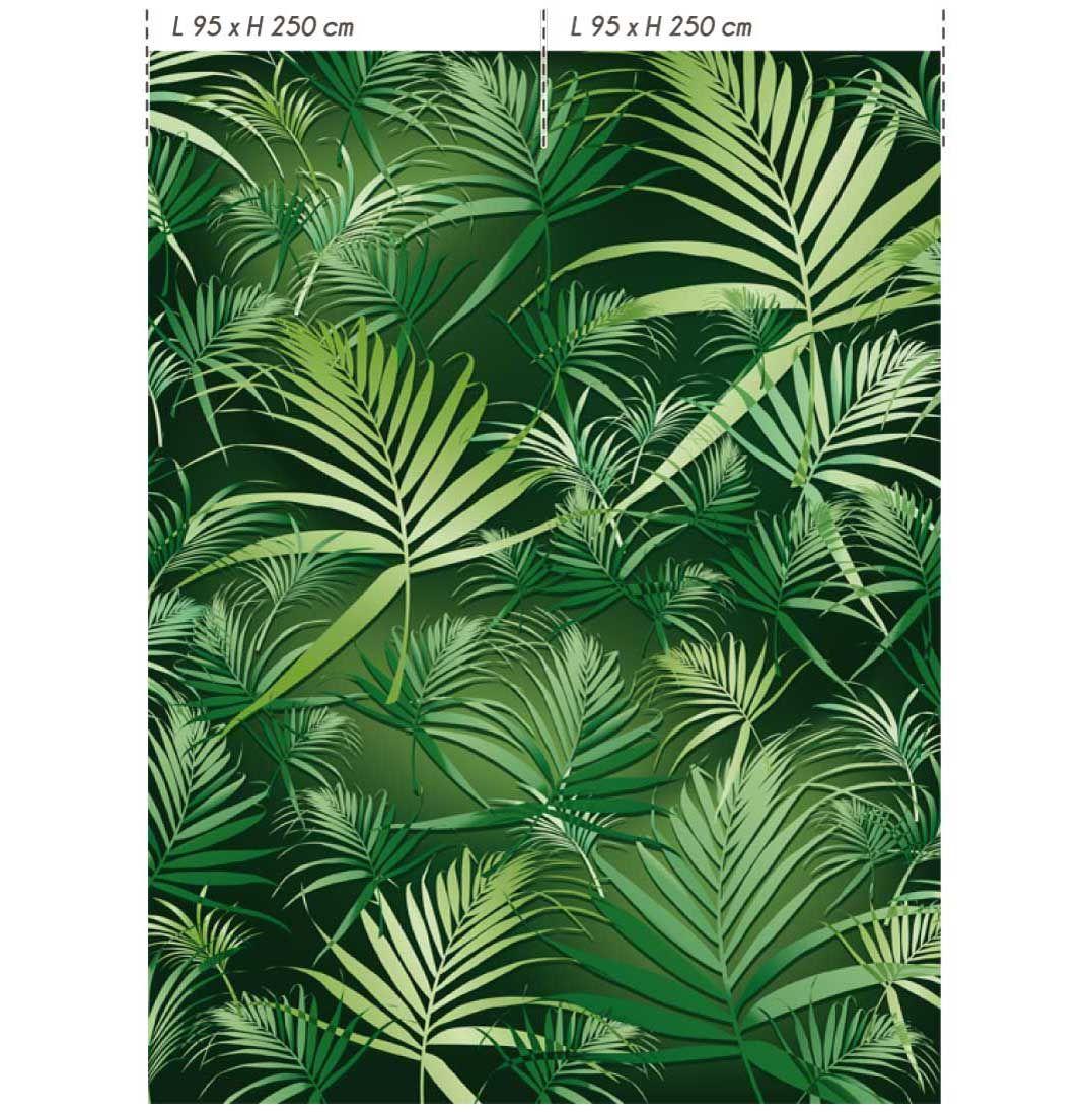 Papel pintado lavable panor mico de papel no tejido dl tropic colecci n double strips by lgd01 - Papel pintado lavable ...
