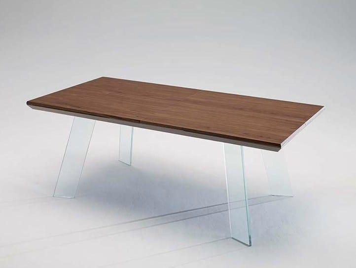 Tavolo allungabile da salotto rettangolare in legno in for Tavolo da salotto moderno