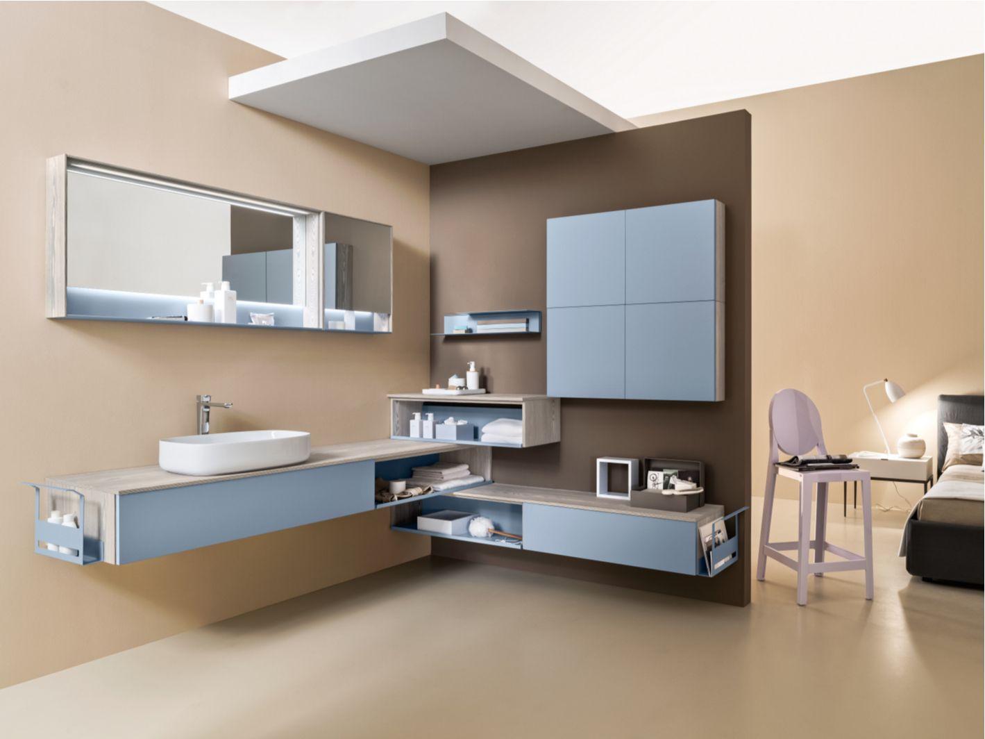 Mobile lavabo angolare componibile laccato DRESS DR1005 Collezione ...