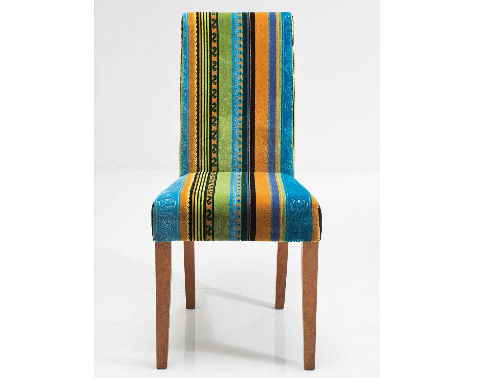 Sedia imbottita in tessuto con schienale alto econo very for Sedie tessuto design