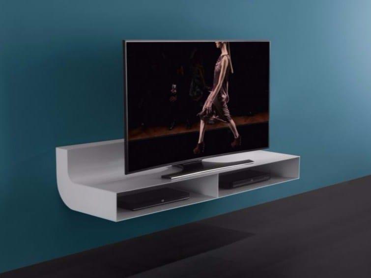 Lle mobile tv in alluminio e vetro collezione lle by res for Mobile tv sospeso