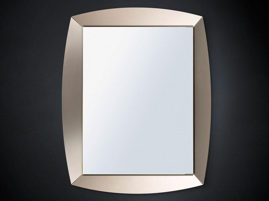 Specchio a parete con cornice per ingresso emerald by vgnewtrend - Parete a specchio per ingresso ...