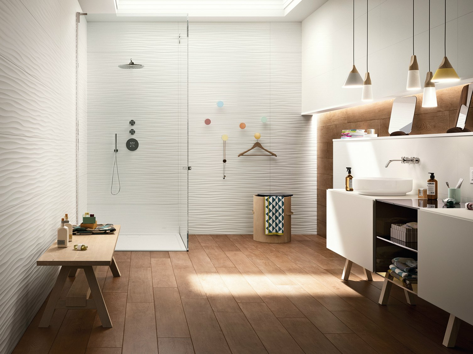 rev tement de sol mur en c ramique p te blanche essenziale by marazzi. Black Bedroom Furniture Sets. Home Design Ideas