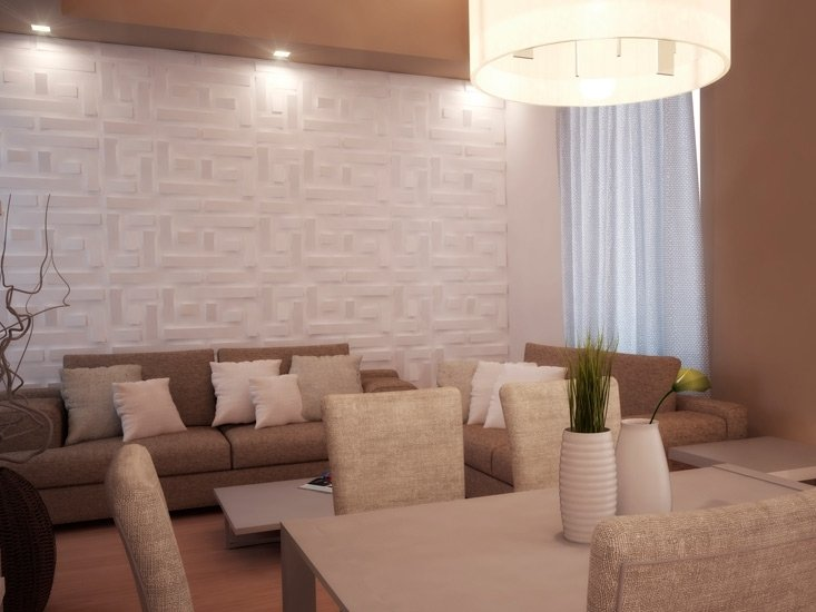 Indoor gypsum 3d wall panel falde 3d panels collection by - Yeso para paredes ...