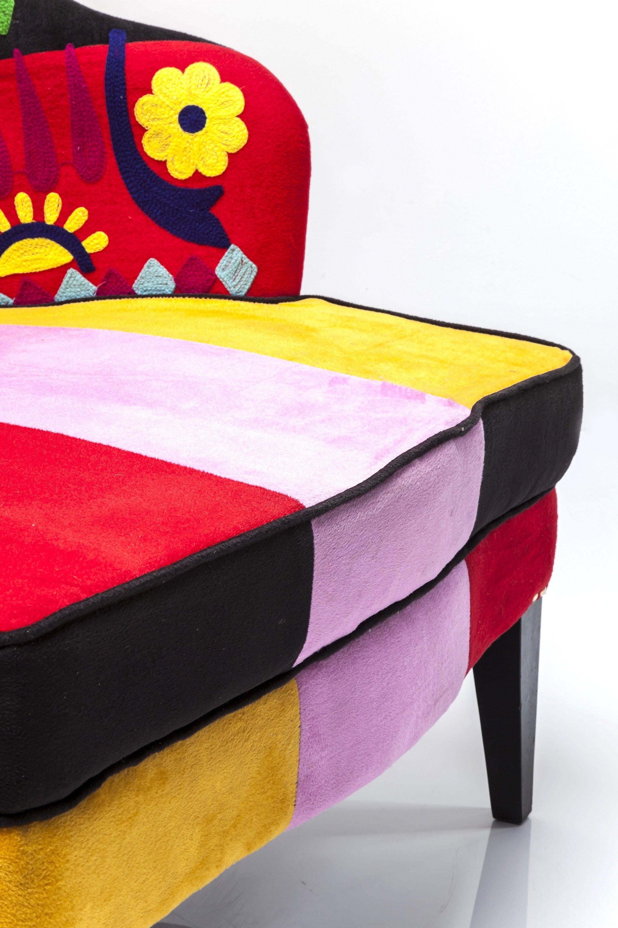 fauteuil en tissu avec accoudoirs fiesta colore kare design - Fauteuil Colore