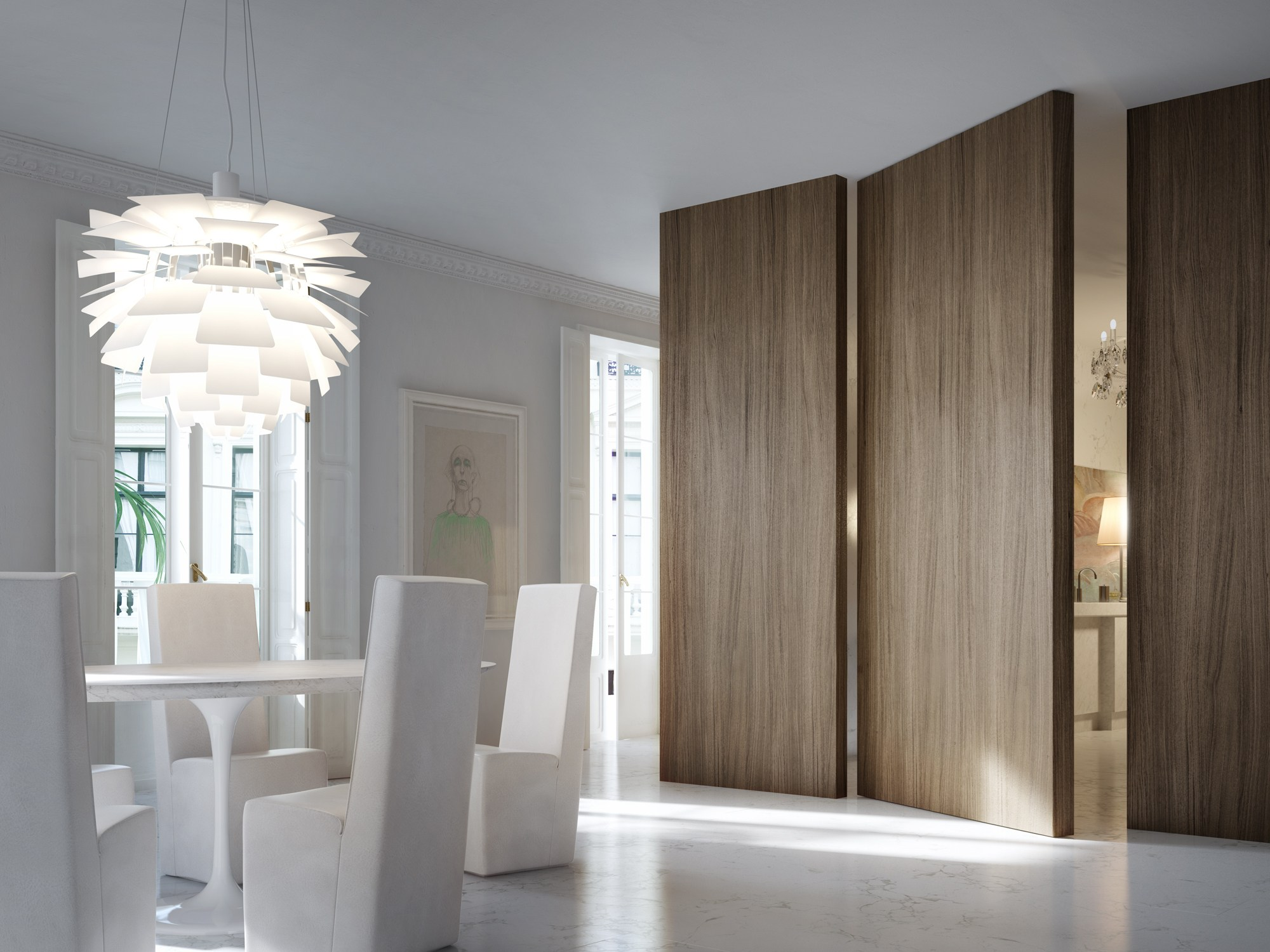 Filo 10 pivot door by linvisibile by portarredo - Puertas interiores modernas ...