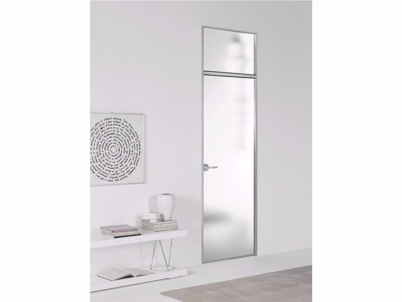 Porta a filo muro con sopraluce filo zero cristalli - Sopraluce porta ...