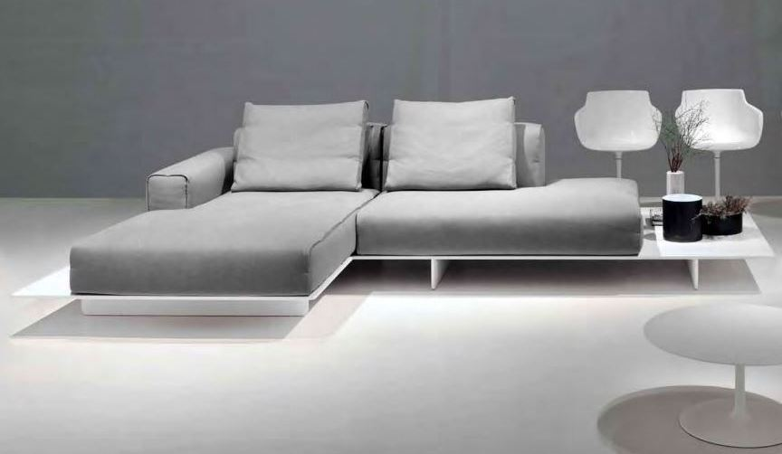 Sectional 2 seater sofa with chaise longue fin by mdf for 2 seater sofa with chaise