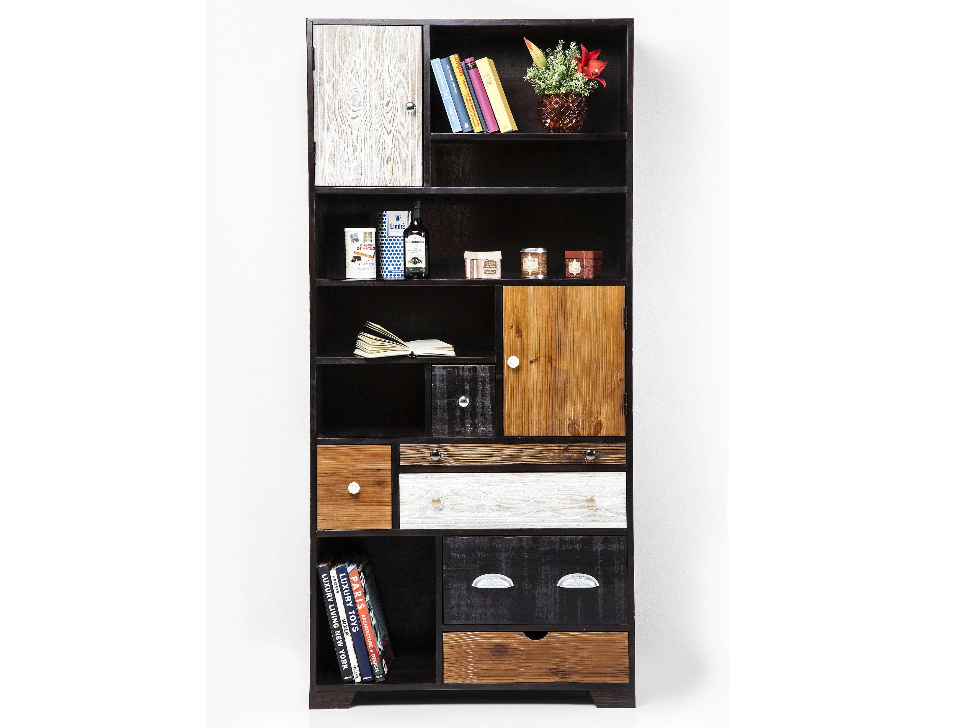 Libreria in legno con cassetti finca eu by kare design for Mobili kare design