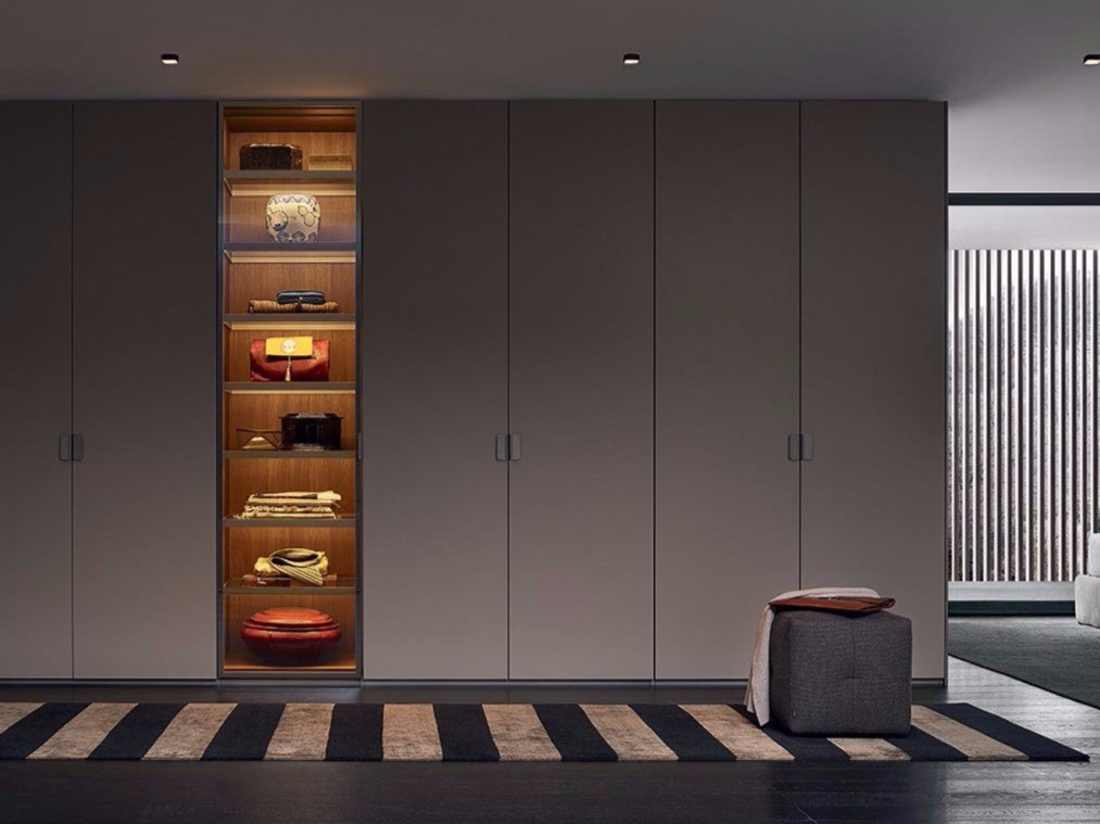 Fitted Lacquered Wardrobe By Poliform Design Rodolfo Dordoni