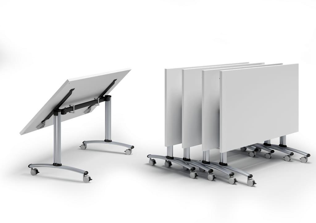 Mesa plegable con ruedas flip top by quadrifoglio sistemi - Mesa plegable diseno ...