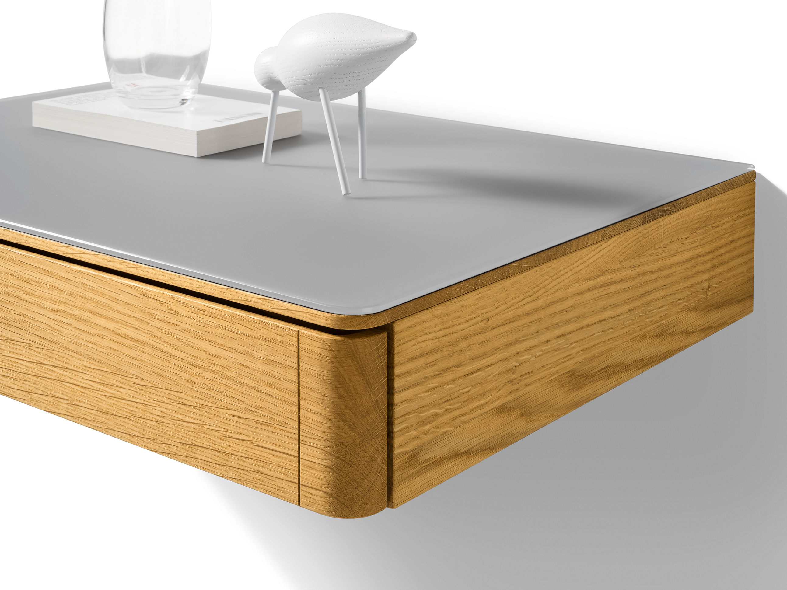 float | wall-mounted bedside table float collectionteam 7
