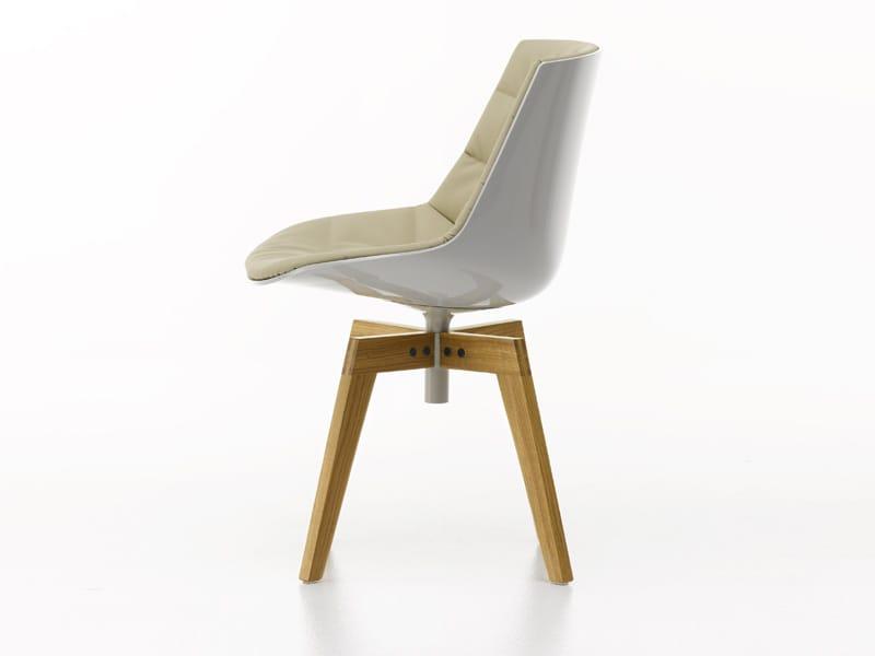 drehbarer gepolsterter stuhl auf fixem fu gestell flow chair kollektion flow by mdf italia. Black Bedroom Furniture Sets. Home Design Ideas