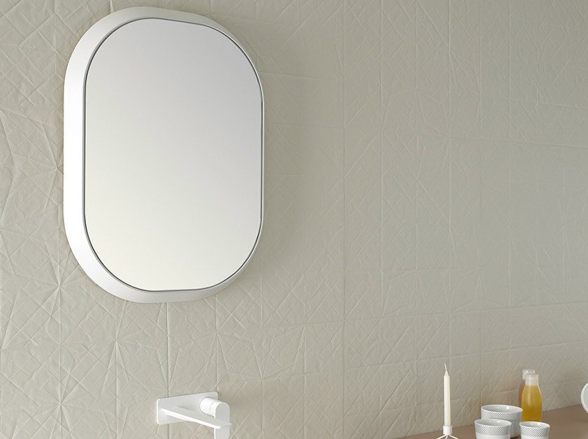 Fluent specchio ovale by inbani design arik levy - Specchio ovale per bagno ...
