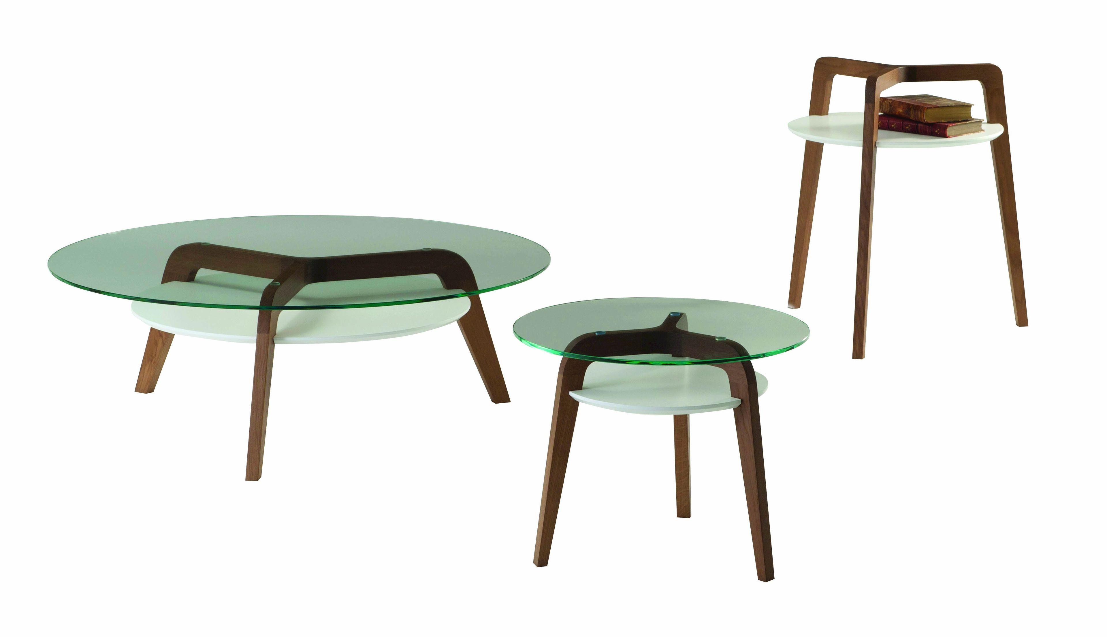 Table Basse Ronde En Verre De Salon Flying Glass By Roche