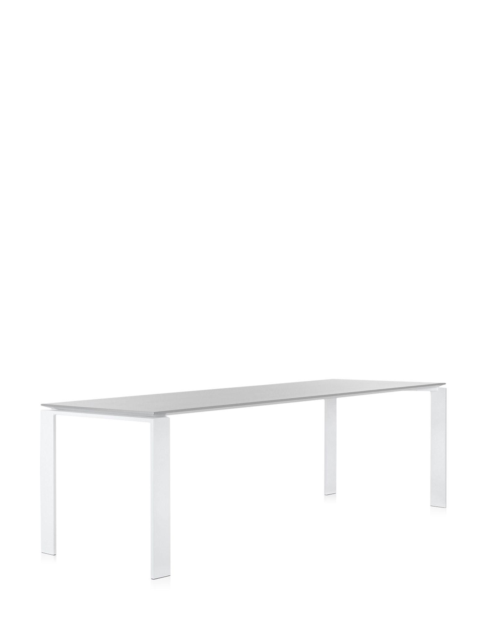Tavolo rettangolare in alluminio four by kartell design - Tavolo four kartell prezzo ...
