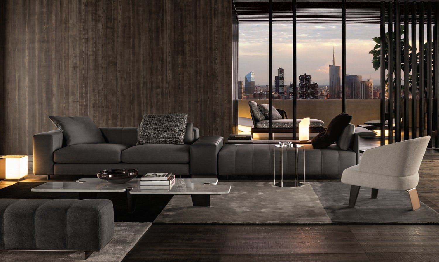 Sofa freeman seating system by minotti - Chaise salle a manger avec accoudoir ...