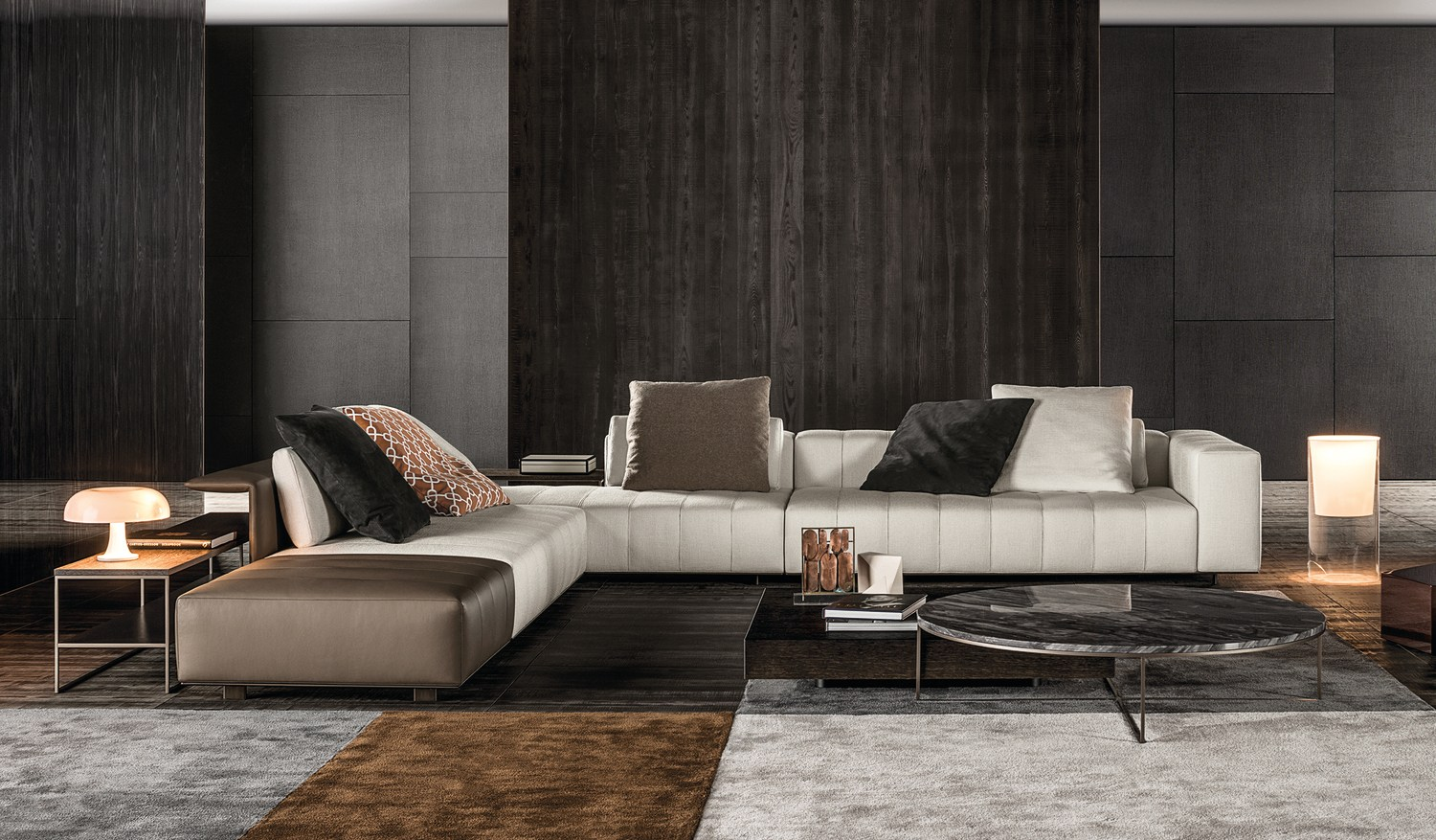 sofa freeman seating system by minotti design rodolfo dordoni. Black Bedroom Furniture Sets. Home Design Ideas