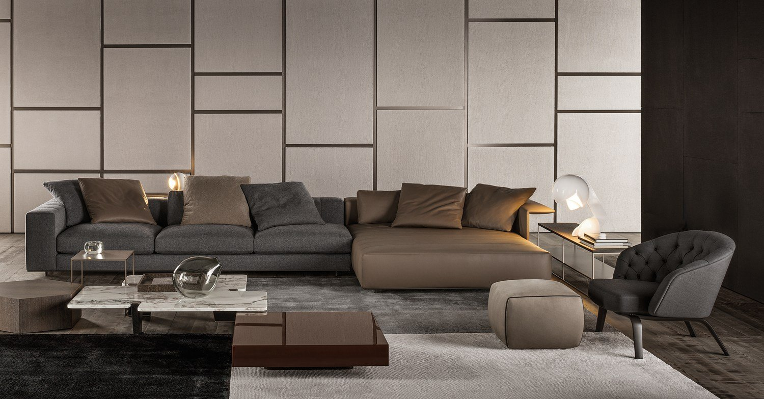 sofa freeman seating system by minotti. Black Bedroom Furniture Sets. Home Design Ideas