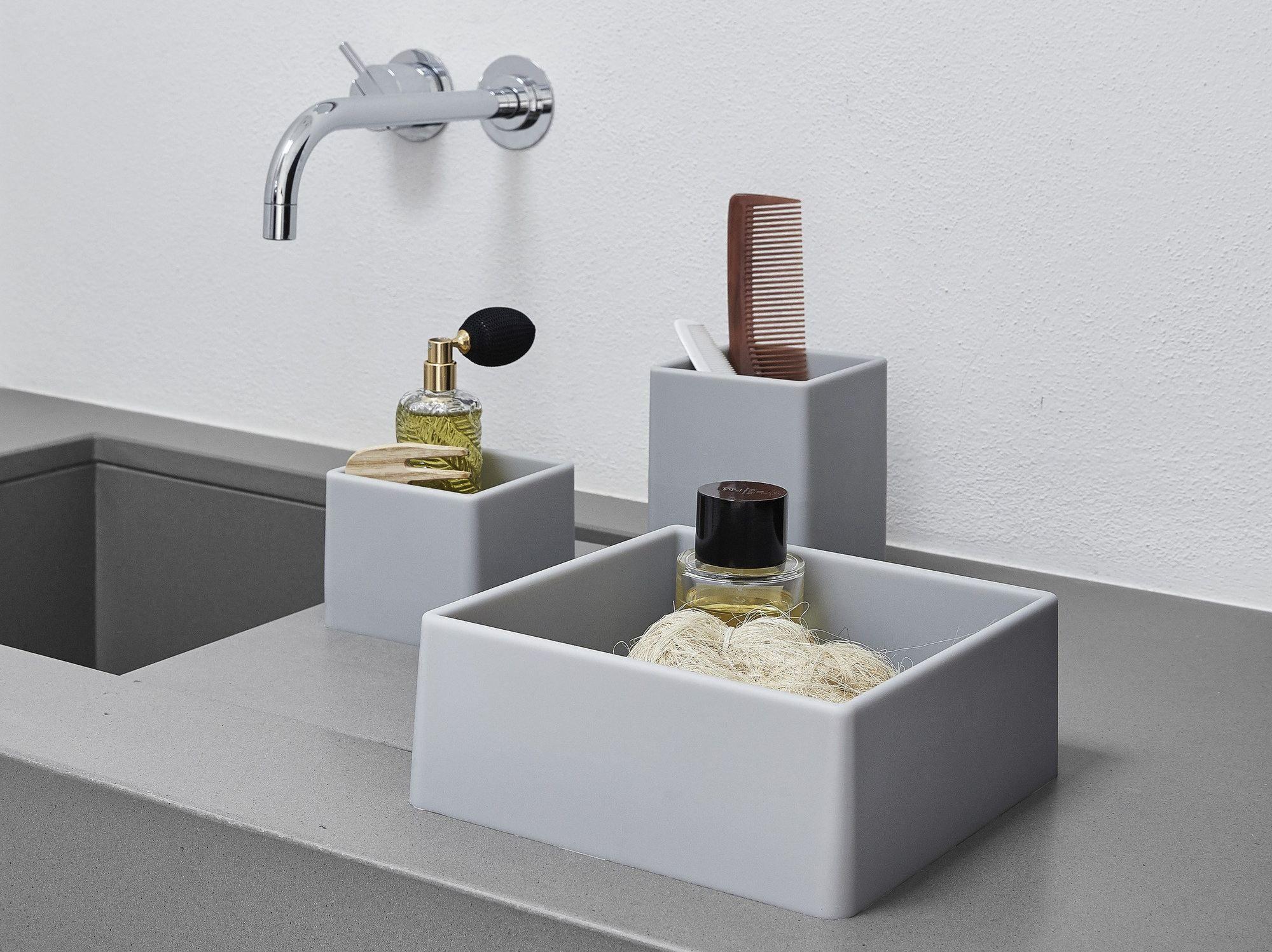 Portaspazzolino contenitore in gel poliuretanico fusti for Accessori per bagno