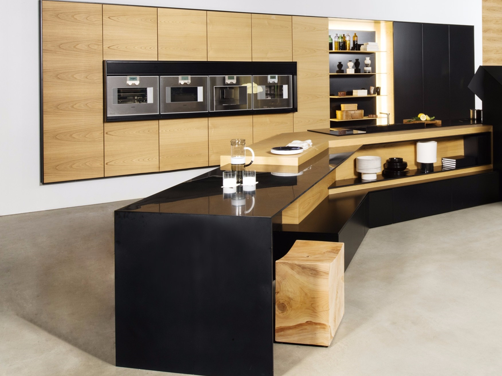 kitchen with peninsula fx carbon lab collection by tm italia cucine design ruadelpapavero