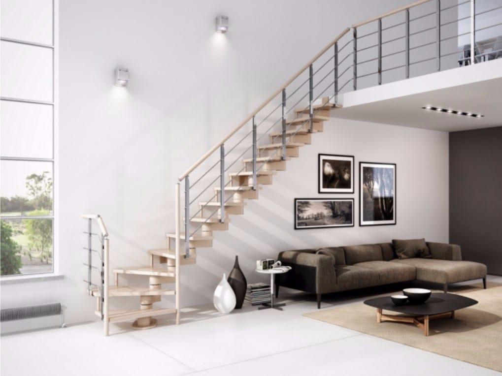 Gamma escalera abierta en forma de l by rintal - Escaleras interiores modernas ...