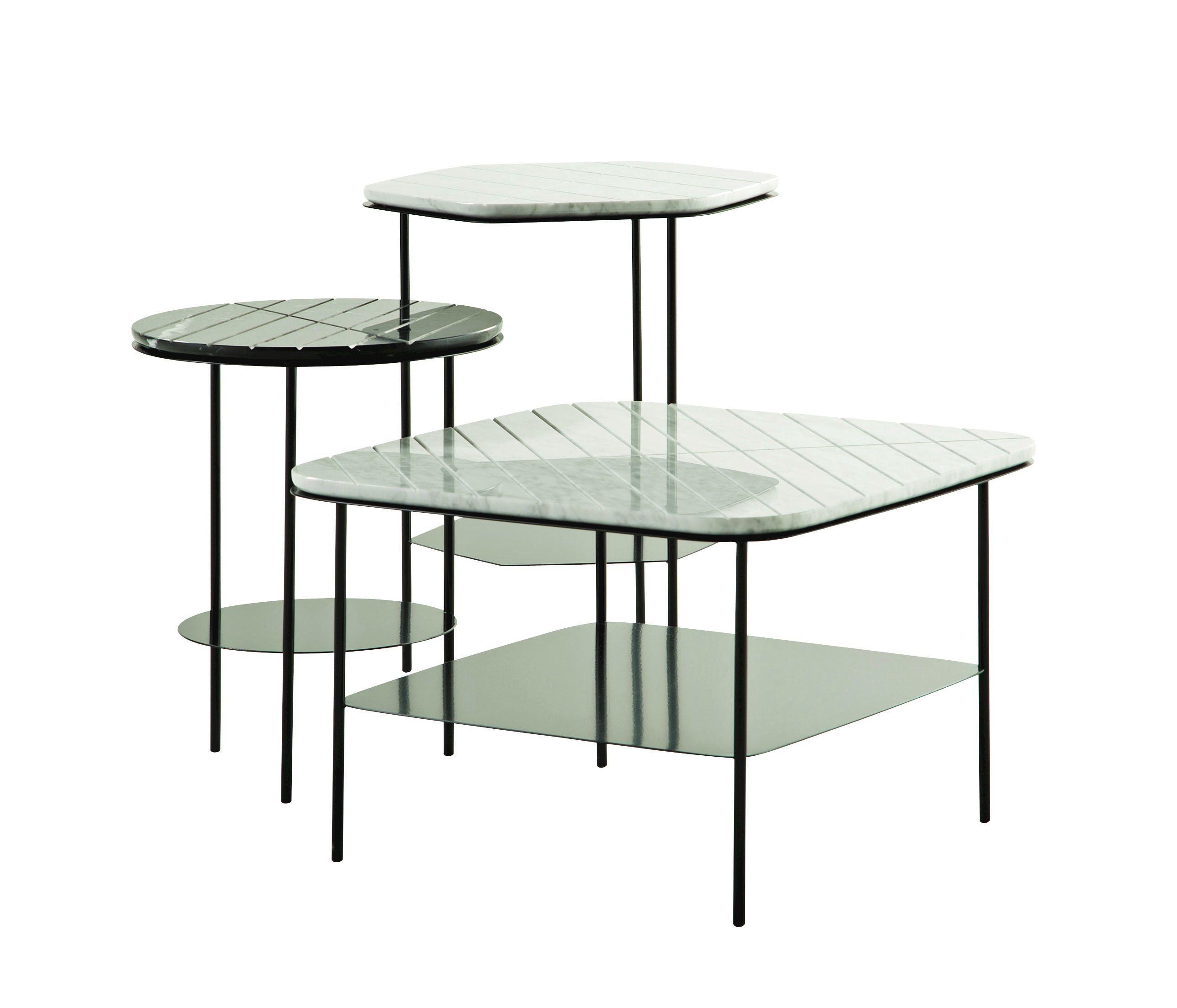 Geom table basse carr e collection les contemporains by - Table marbre roche bobois ...