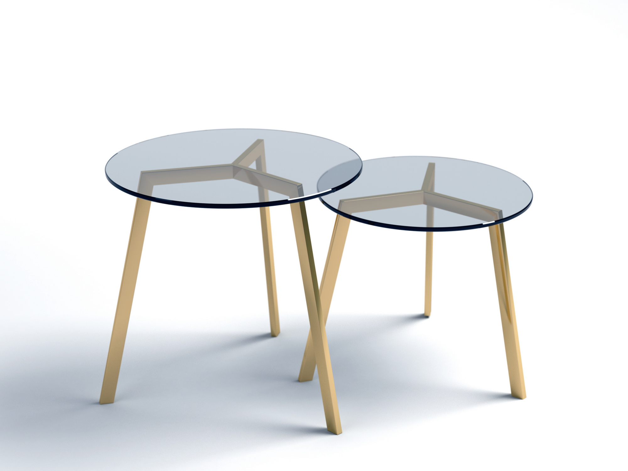 Stil glass and steel coffee table stil collection by altinox minimal design design sergio Steel and glass coffee table