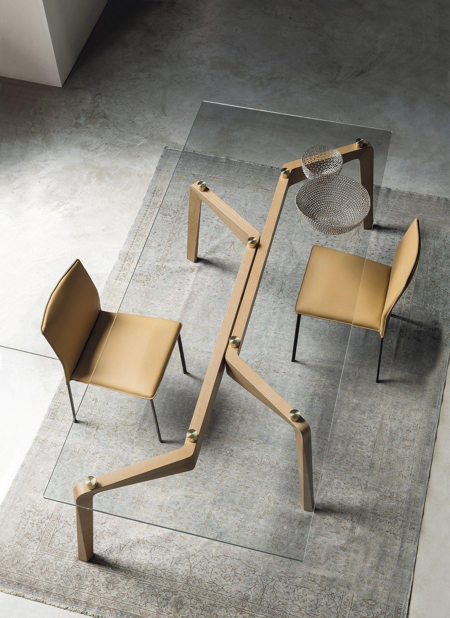 Glide tavolo rettangolare by riflessi design egidio panzera for Tejas dining room at t conference center