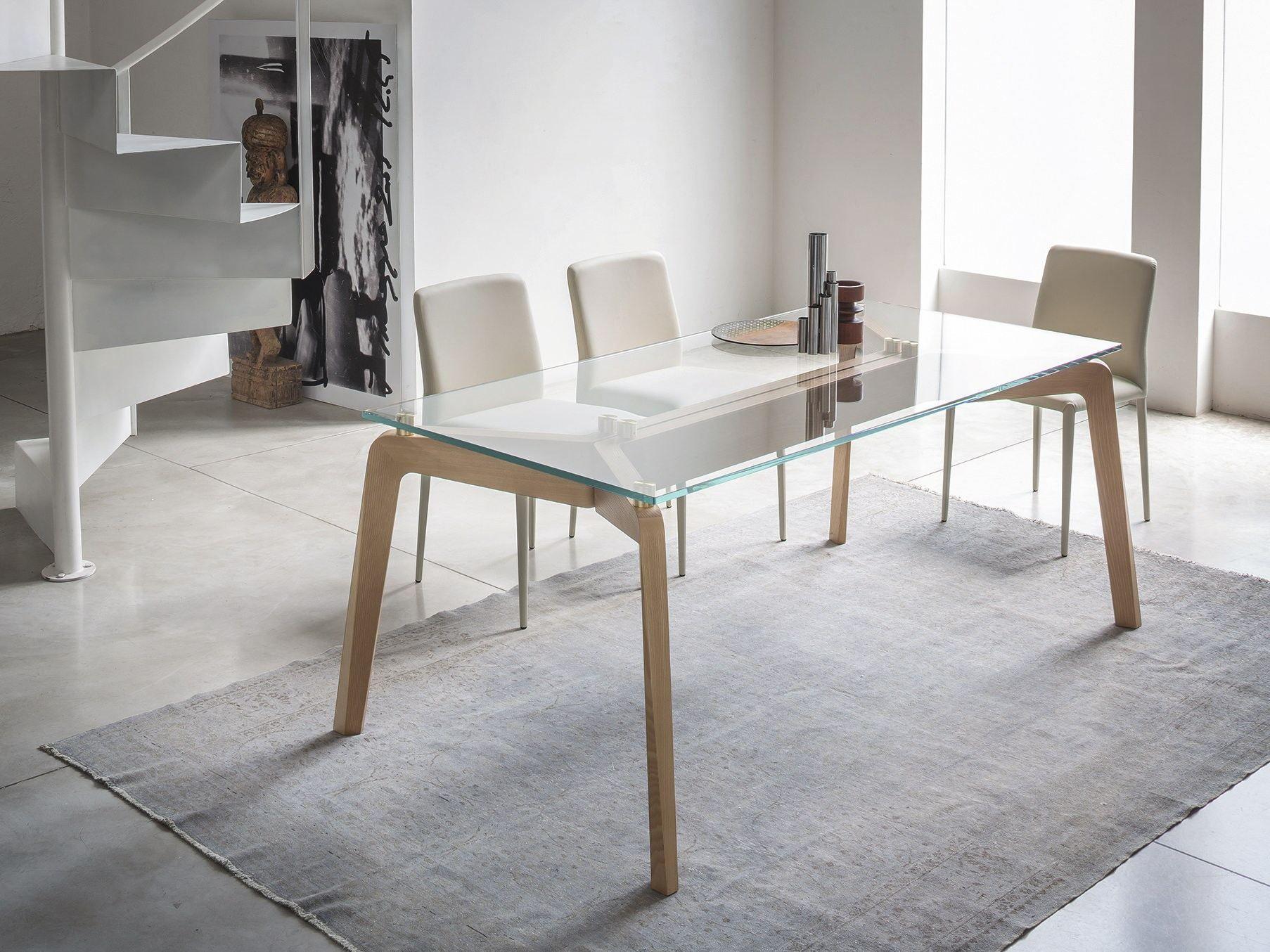 Glide tavolo rettangolare by riflessi design egidio panzera for Tavolo riflessi living