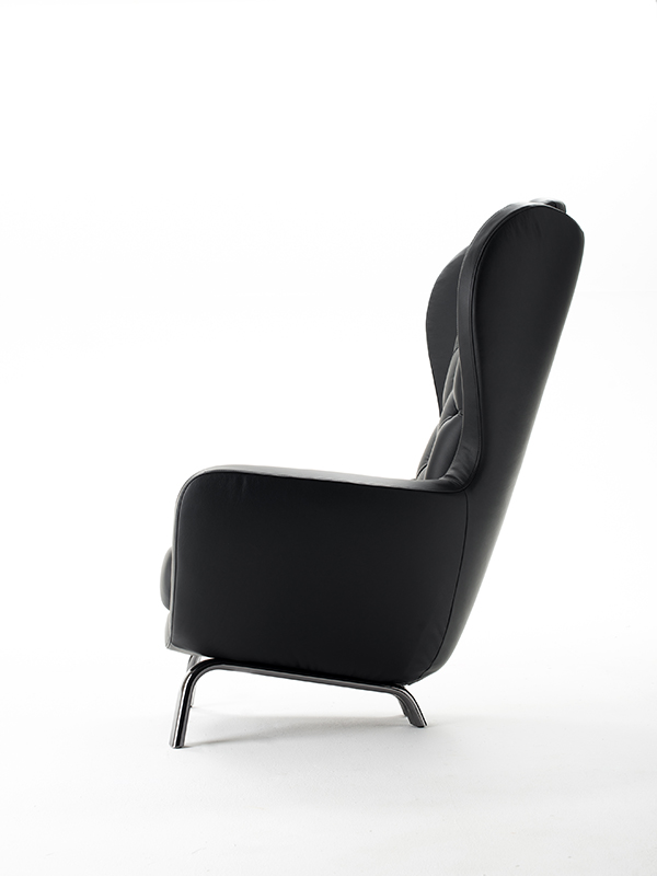 guelfo fauteuil en cuir collection guelfo by opinion ciatti design lapo ciatti. Black Bedroom Furniture Sets. Home Design Ideas