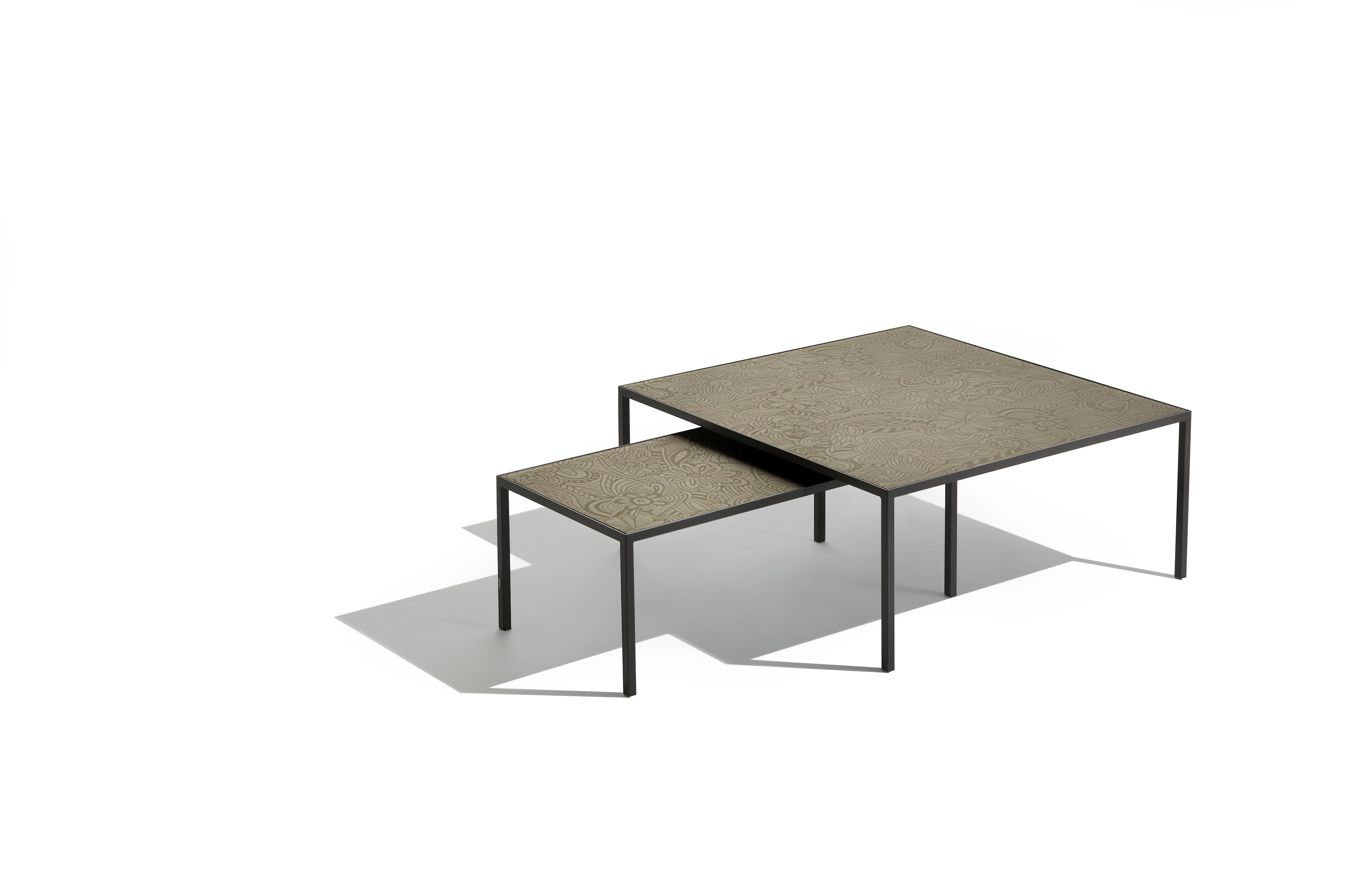 Glass Square Coffee Table Chrome And