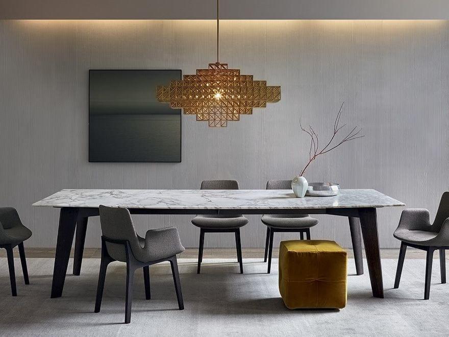 Rechteckiger tisch aus marmor howard by poliform design for Tisch aus marmor