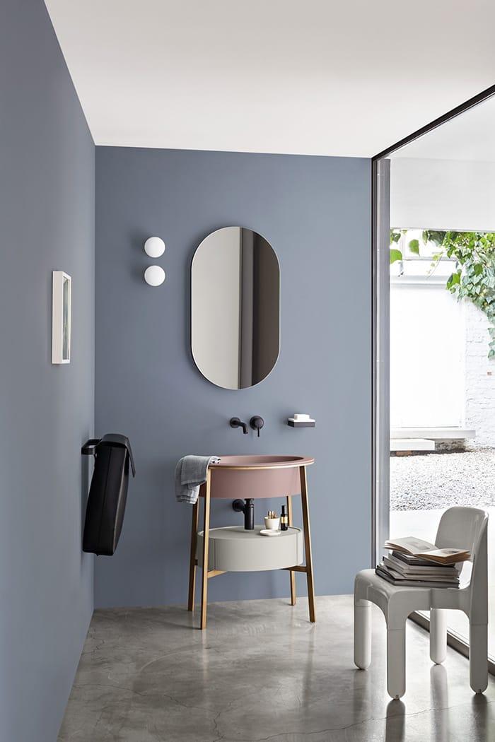 I catini specchio ovale collezione i catini by ceramica - Specchio ovale per bagno ...
