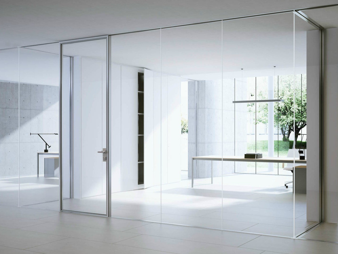 Glass partition wall i wallspace by fantoni for Glass walls