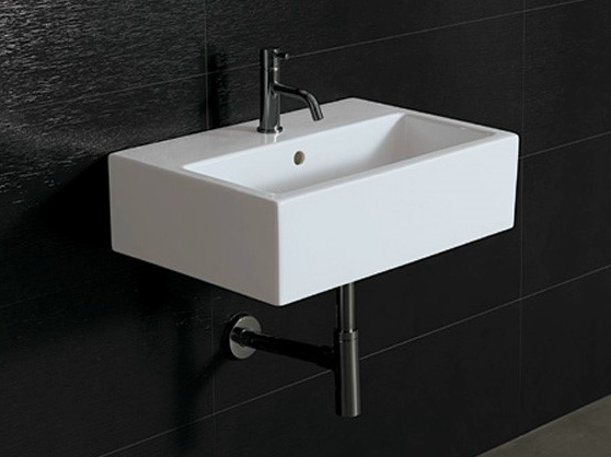 rechteckiges waschbecken aus keramik ice 60x40 kollektion. Black Bedroom Furniture Sets. Home Design Ideas