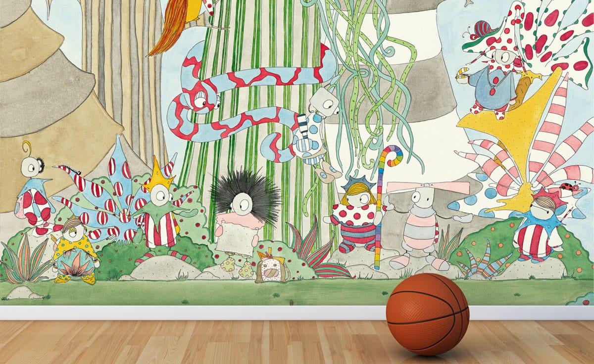 Carta da parati per bambini il bosco linea wallpepper fine for Carta da parati 3d bambini