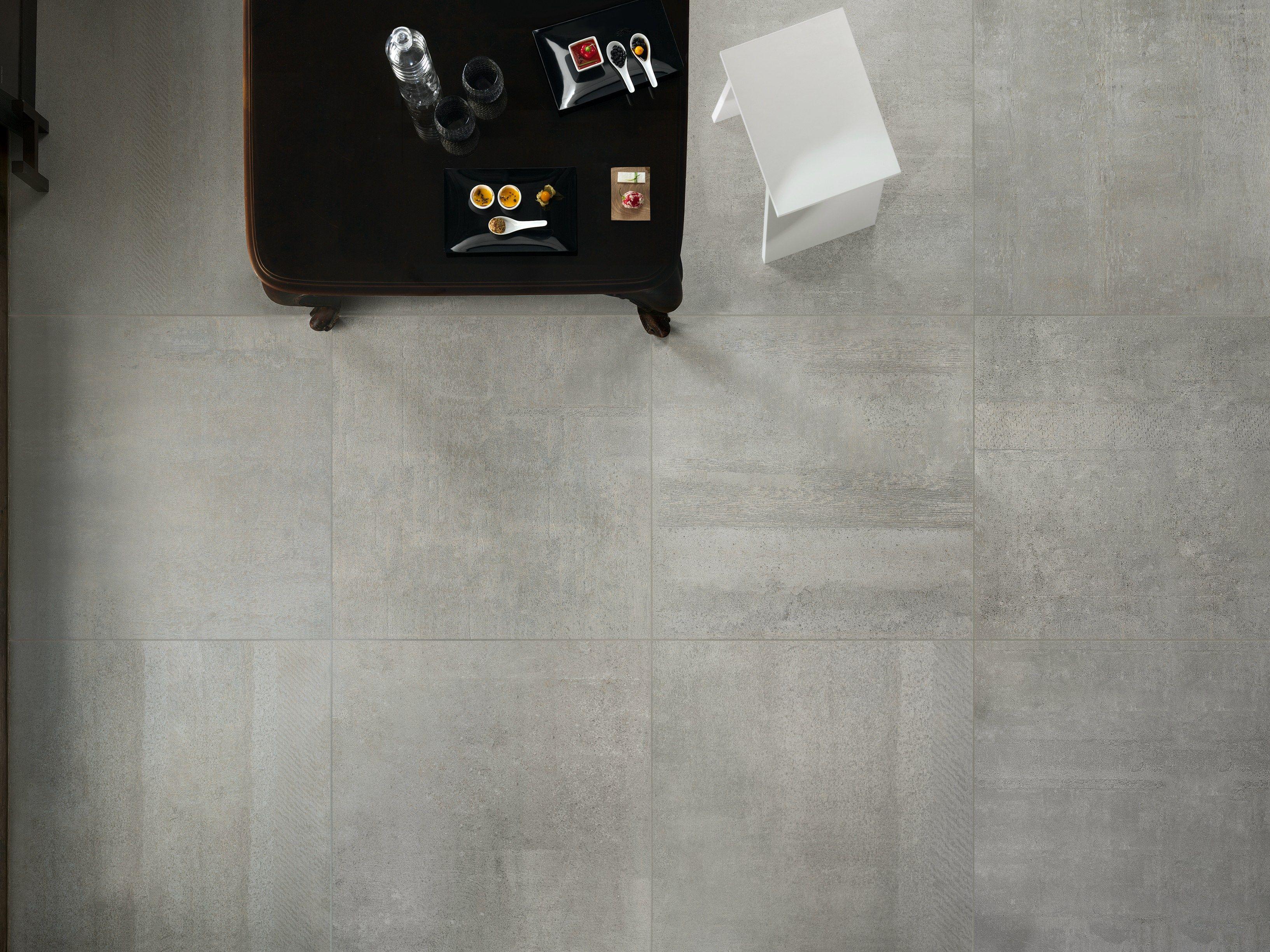 Pavimento in gres porcellanato effetto cemento IMPRESS GRIGIO Collezione Impress by ASTOR CERAMICHE