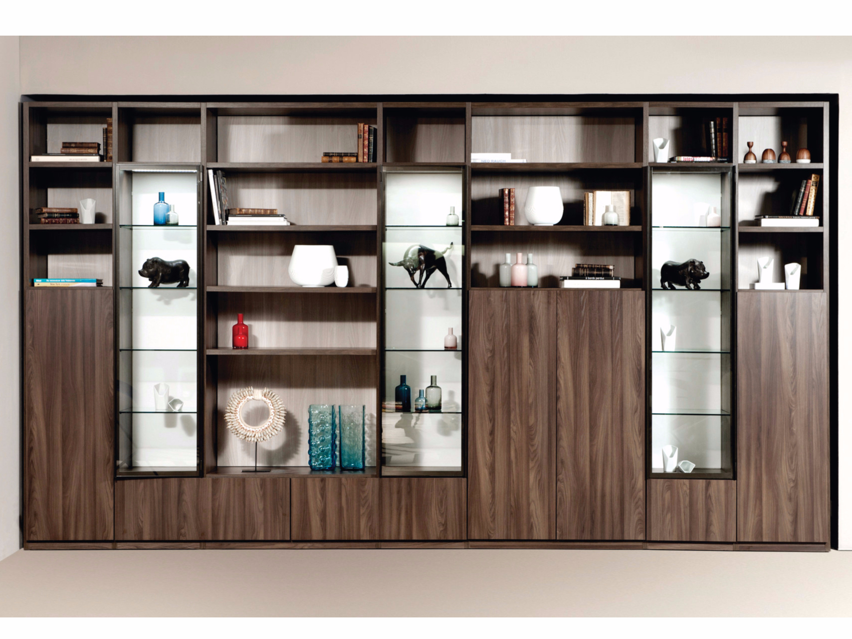 Biblioth que composable intralatina 201510 a by roche bobois - Meuble bibliotheque roche bobois ...