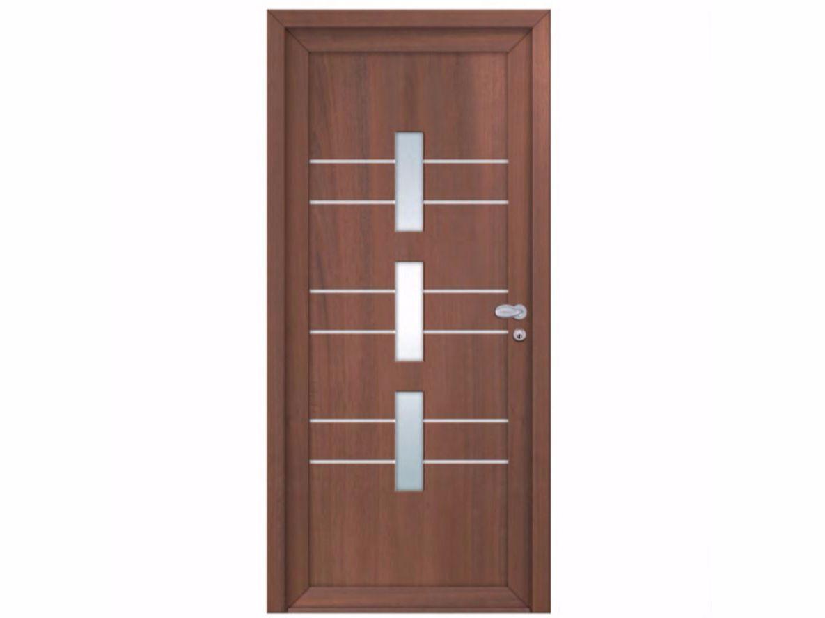 Porta d'ingresso in derivati del legno per esterno con pannelli in vetro INTRO UPPSALA by ...