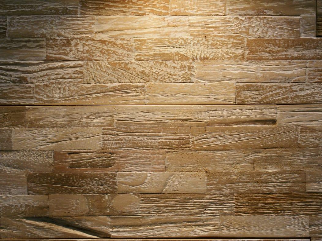 Piastrelle con superficie tridimensionale in legno di recupero java white wash by teakyourwall - Piastrelle di legno ...