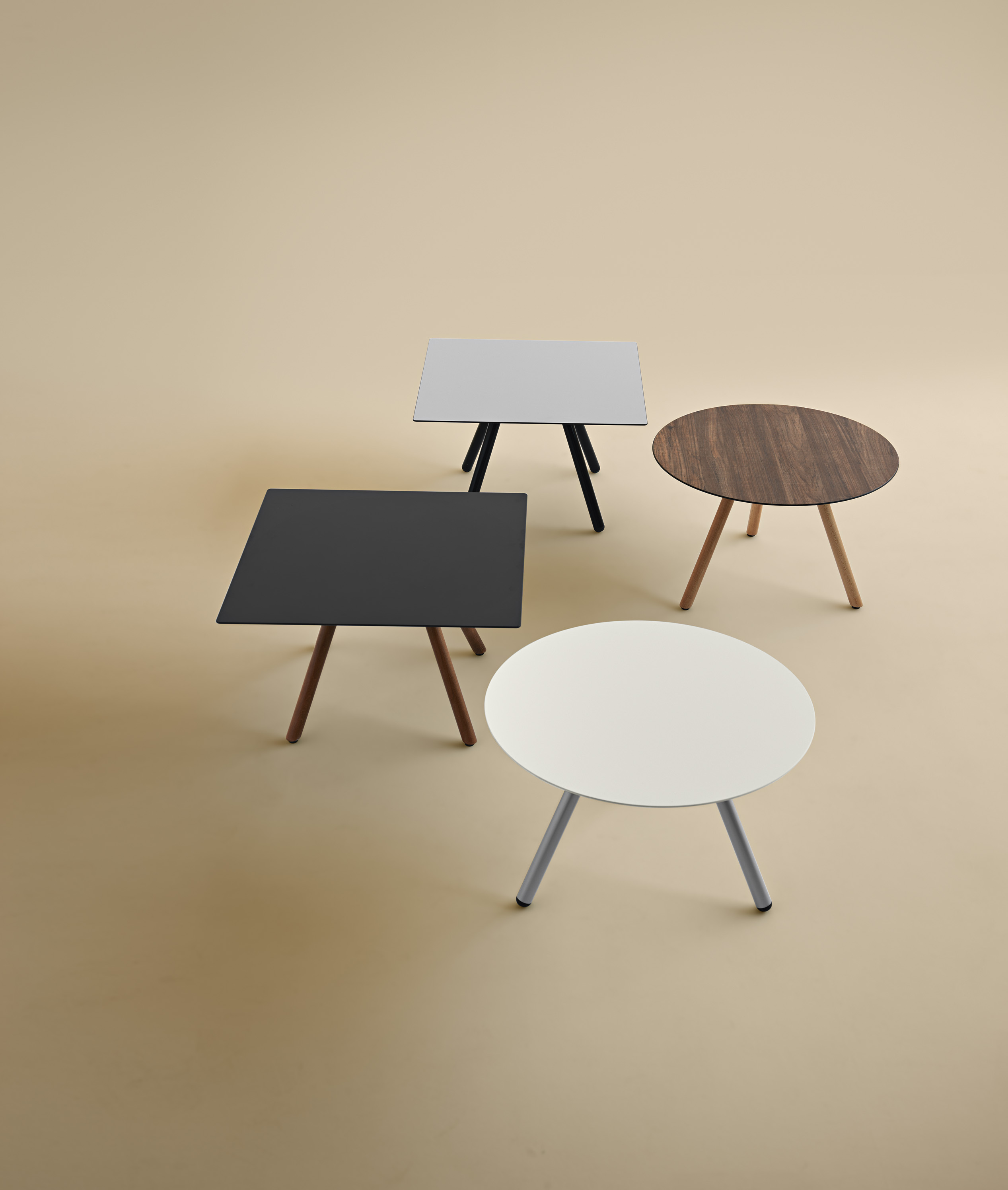 Square Coffee Table Metal Legs: Square Coffee Table With Steel Legs Jet 521Q Jet
