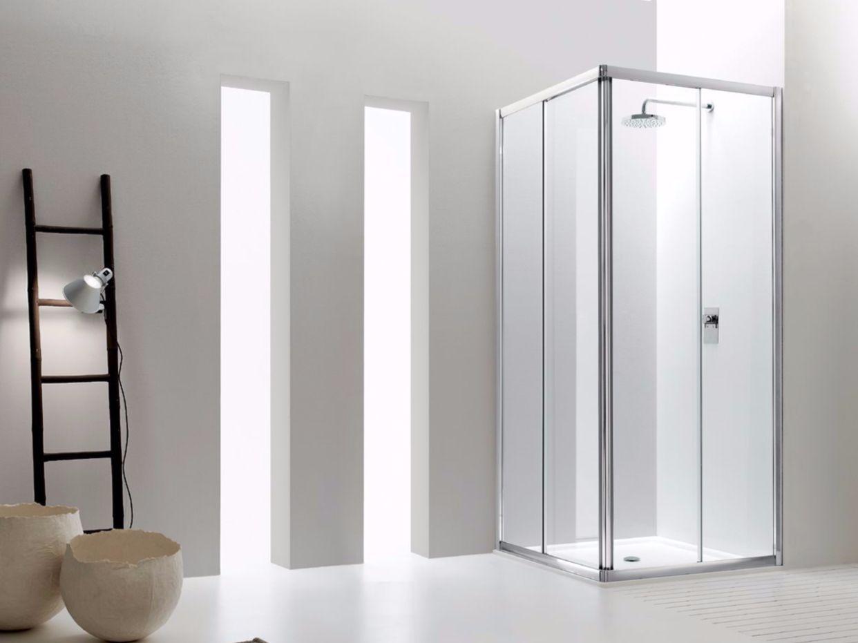 Box doccia angolare in vetro con porte scorrevoli JOLLY - 1 ...