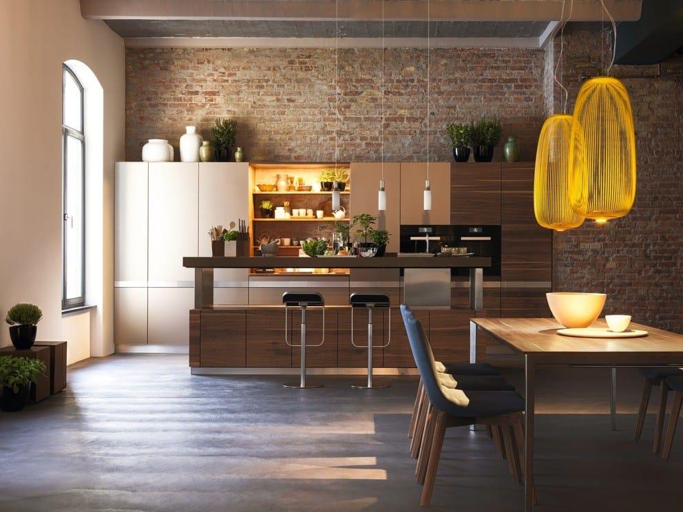 k che aus massivem holz mit k cheninsel k7 by team 7. Black Bedroom Furniture Sets. Home Design Ideas