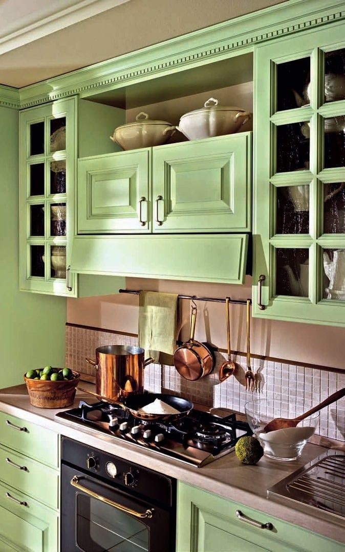 Cucina Componibile Laccata : Cucina componibile laccata in legno con maniglie