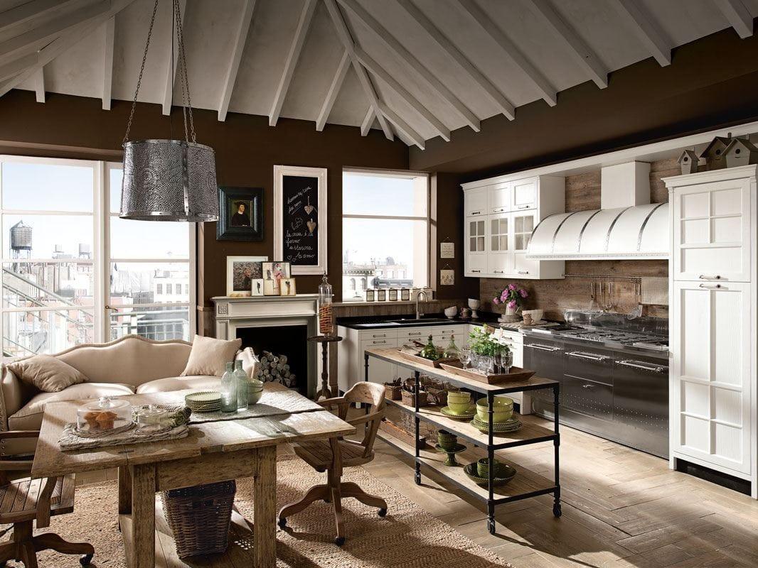 Cucina componibile laccata kreola composizione 03 - Cucine marchi group ...