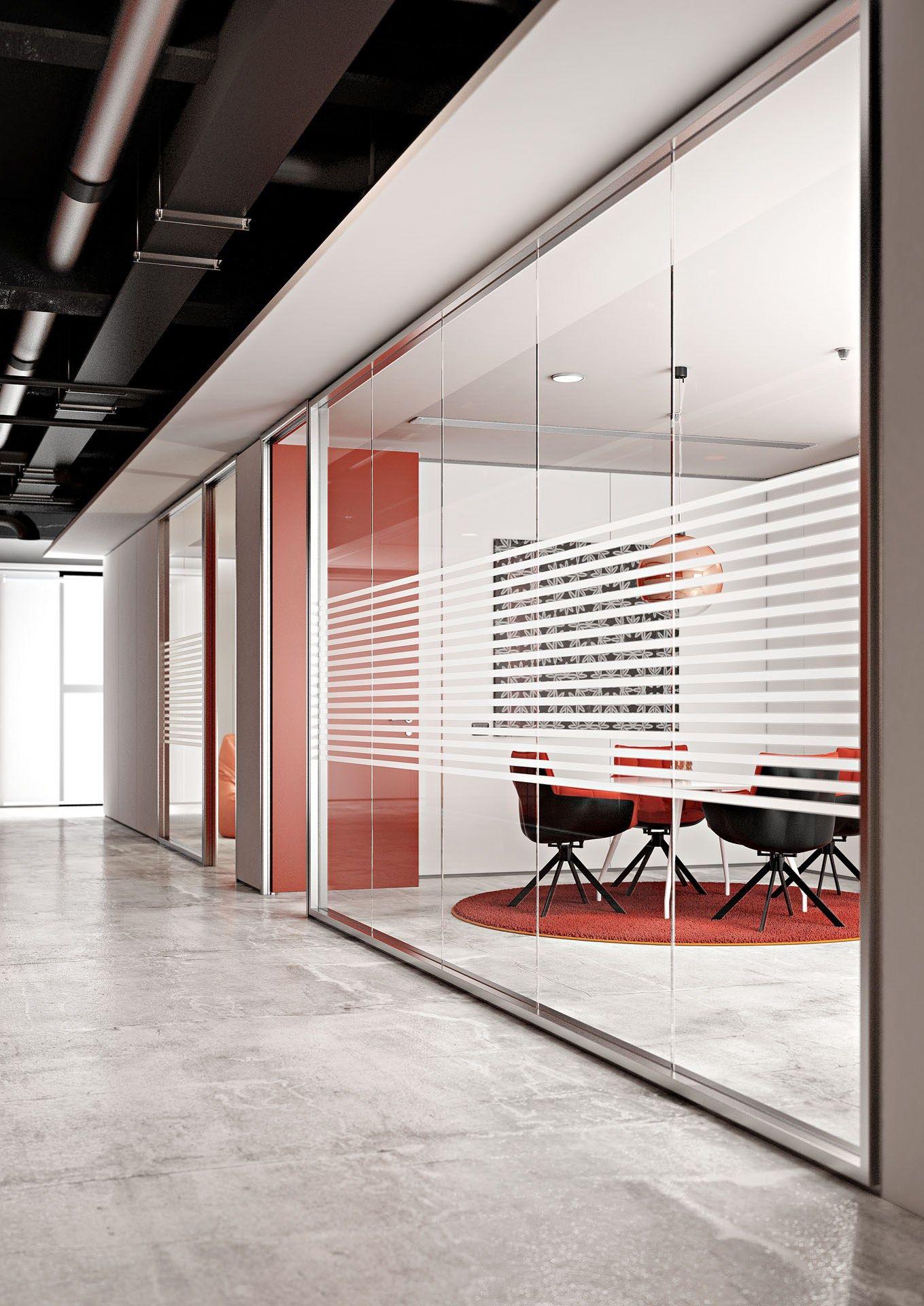 Parete mobile in vetro kristal 10 collezione kws by for Mamparas de oficina sevilla