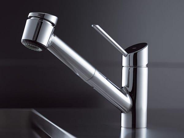 rubinetto da cucina da piano con doccetta estraibile kwc bliss ... - Rubinetto Cucina Con Doccetta Estraibile