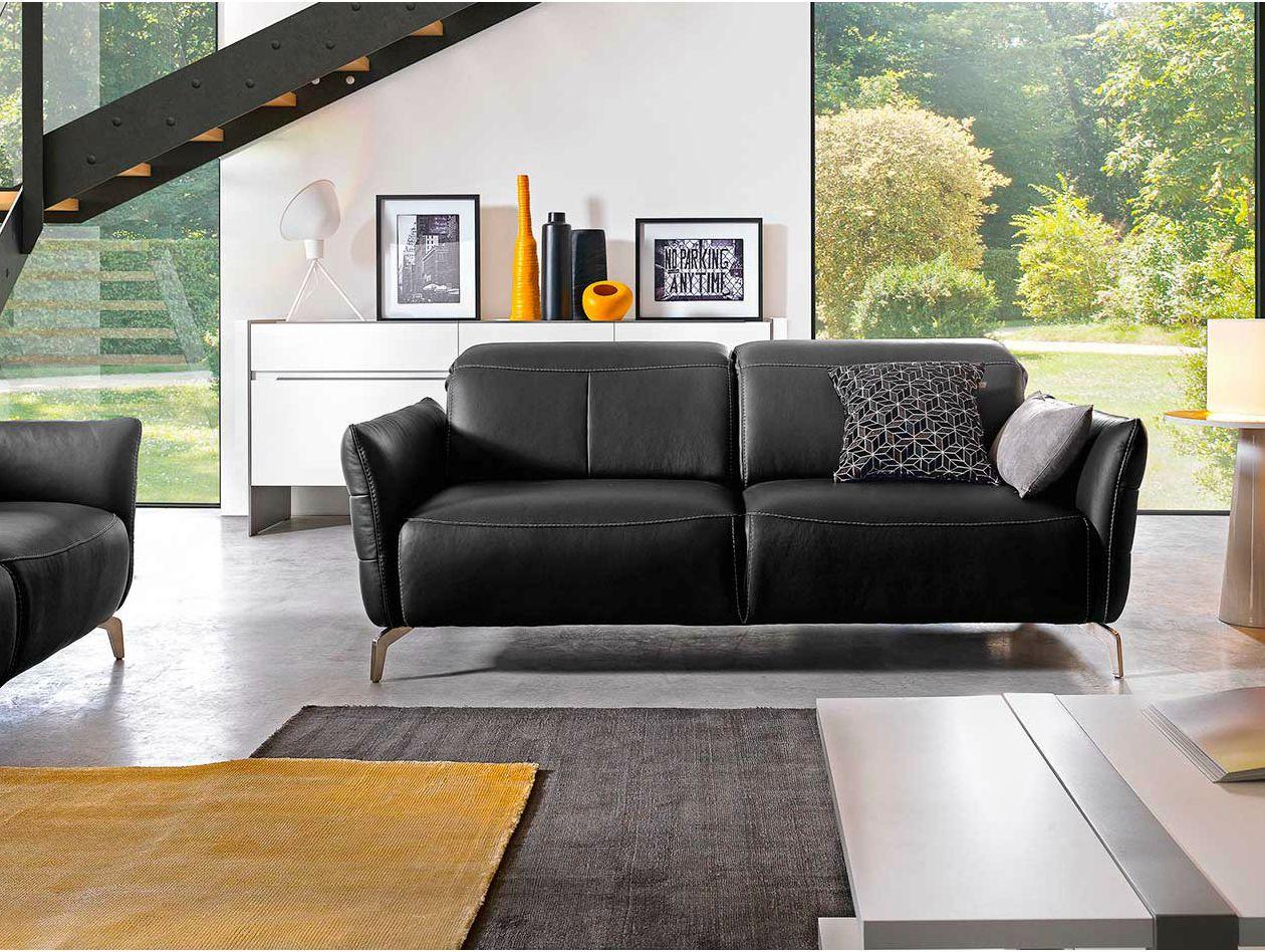 livea divano in pelle collezione livea by gautier france. Black Bedroom Furniture Sets. Home Design Ideas
